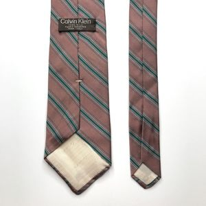 Calvin Klein Accessories - Calvin Klein Pink Green Silk Necktie A050715
